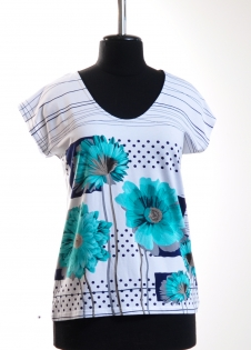 Блуза Carlo Цветы горох