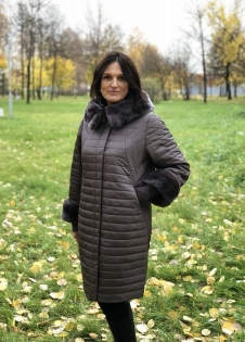 Пальто STYLEX 7752-2T кролик-капюшон